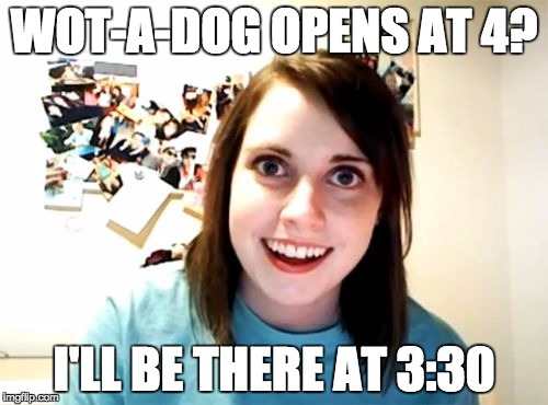 wad overly attached