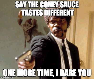 was coney sauce diff