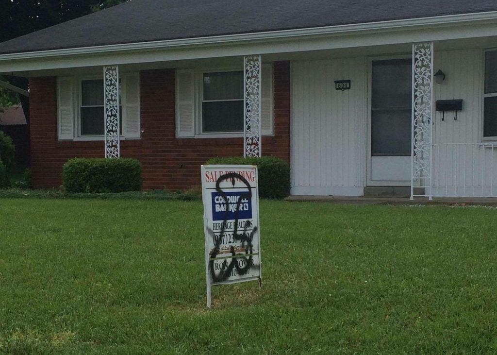New Carlisle Real Estate Sign Graffiti